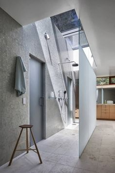 This one looks wheelchair/assisted device accessible.   20+ Cool Showers for Contemporary Homes