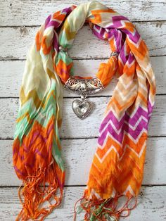 Chevron jewelry scarf