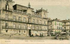 León, fotos antiguas, plaza mayor