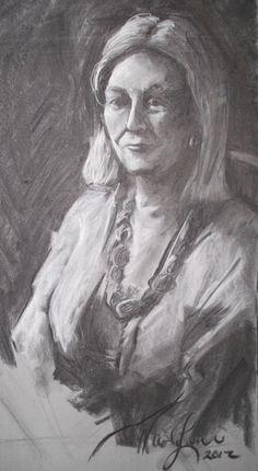 Aunt Jerrie- 2012 charcoal on paper http://www.facebook.com/NicoleLaneArt http://NicoleLaneArt.com
