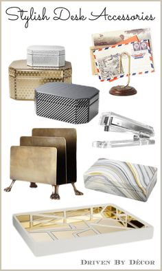 Favorite accessories for a stylish and organized desk!