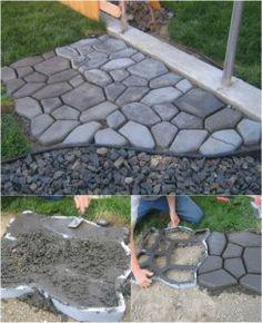 Make your own cobblestones.