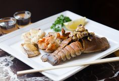 Teppanyaki Seafood Platter, featuring the delicious bug! All cooked on our Teppan table!