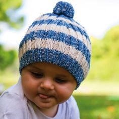 334e20cdbad Baby Boys Beau Beanie – Cool cream and blue stripe beanie for boys. Great  soft wool blend knit with a surfer look. Melondipity Baby Hats