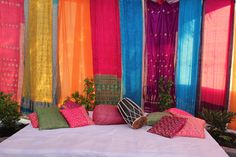 DESIGNWALI: An Indian wedding...west coast style  translate into a surround for the booth tent.
