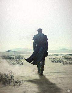 The Man in Black fled across the desert and the Gunslinger followed.
