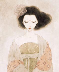 mandarava的中国女子插画