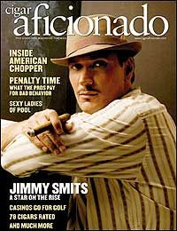 Jimmy Smits Cigar Aficionado Cover June 2005