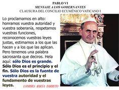EN ESPAÑOL PABLO VI MENSAJE A LOS GOBERNANTES CLAUSURA DEL CONCILIO ECUMÉNICO VATICANO I https://instagram.com/p/9Tr7gXCZ75/