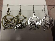 Antique Gold or Silver Mockingjay Earrings  by MinLiJewelry, $2.49