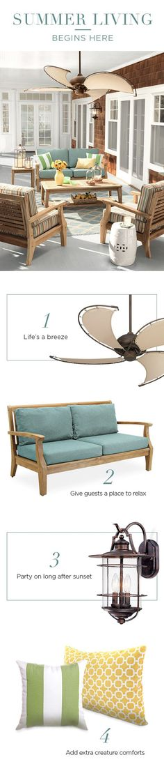 Outdoor Fans, Lighting and Furniture from Lamps Plus