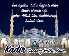 🌙Kadir Geceniz Mübarek Olsun Kartları 💚REKLAMSIZ💚 Allah, Taj Mahal, Public, World, Building, Instagram Posts, Travel, Anne, Istanbul