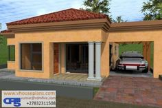 Overall Dimensions- x 2 Car Garage Area- Square meters House Plans Mansion, 2 Bedroom House Plans, House Floor Plans, Free House Plans, House Layout Plans, House Layouts, Tuscan House Plans, Single Storey House Plans, House Plans South Africa