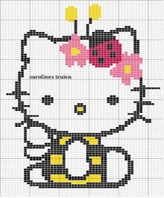 Gráficos de Ponto Cruz: Gráficos Hello Kitty