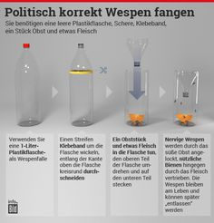 Tipps gegen die Wespen-Plage: So schlagen Sie die Biester in die Flucht Tips against the Wasp Plague: How to Beat the Beasts www.de / … Related posts:Camping kitchen - refined recipes on the Crafts For Teens To Make, Crafts To Sell, Easy Crafts, Diy And Crafts, Dollar Store Crafts, Dollar Stores, Go Camping, Camping Hacks, Mosquitos