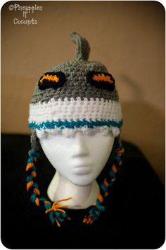 Shark Hat in San Jose Sharks colors by PineapplesNCoconuts on Etsy