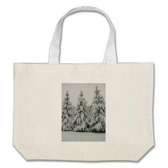Snow covered trees canvas bags!  This bag is fully customizable to meet your needs with a variety of styles, graphics and colors!