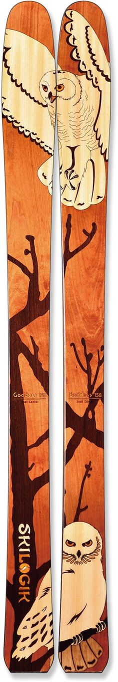 These are without a doubt the coolest skis ever