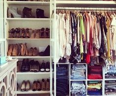 small closet ideas  ---- Bc you just never know when things might come down to this....