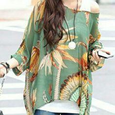 ❎❎SOLD IN BUNDLE❎Adorable Boho style oversized top Adorable Boho style oversized top Tops Blouses