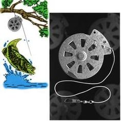 YoYo Automatic Fishing Reel Package of 12 Reels 60 Pound Test Nylon Line Wire Trigger.