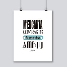 frases boniques en català sobre la vida - Buscar con Google The Words, Dad Day, Mom And Dad, Cat Quotes, Love Quotes, Friday Im In Love, Free Poster Printables, Mr Wonderful, Good Vibes