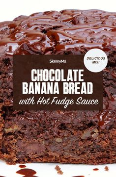 Take banana bread to the next level! Introducing this ridiculously moist and absurdly delicious Skinny Ms. Chocolate Banana Bread with Hot Fudge Sauce. Clean Eating Slow Cooker Recipe, Clean Eating Recipes, Clean Eating Snacks, Kinds Of Desserts, Sugar Free Desserts, Snacks To Make, Easy Snacks, Chocolate Banana Bread, Chocolate Recipes