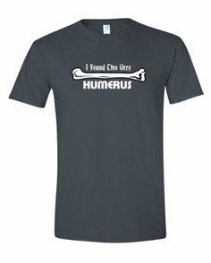5c46d477 Men's I Found This Very Humerus humorous leg bone Funny T-Shirt-Charcoal-