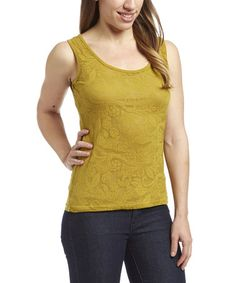 Loving this Lime Floral Tank - Women on #zulily! #zulilyfinds
