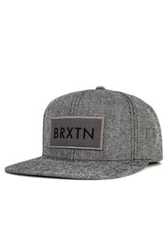 4c28660a7b2 The Rift from Brixton is a six panel cut and sew acrylic wool cap with  custom embroidered patch at front and adjustable snaps at back.