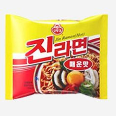 Ottogi Jin Ramen (Spicy) (Pack of Instant Ramen, Korean Food, Cereal, Spicy, Snack Recipes, Soup, Chips, Packing, Tasty
