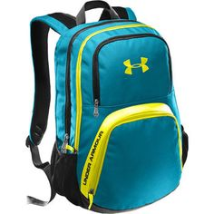 under armour backpack. I like the pink on the best but this is cute also.