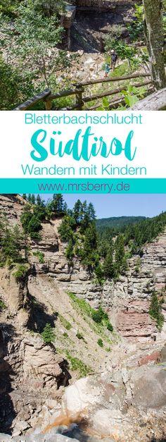 Wandern mit Kindern in Südtirol | Die Bletterbachschlucht in den Dolomiten wird auch der Grand Canyon Südtirols genannt. | MrsBerry Familien- & Reiseblog http://mrsberry.de