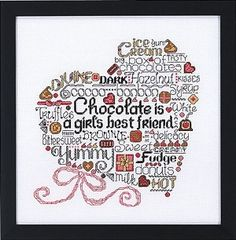 Let's Do Chocolate Counted Cross Stitch Pattern