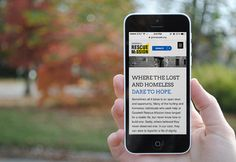 Goodwill Rescue Mission website designed by fatrabbit CREATIVE.
