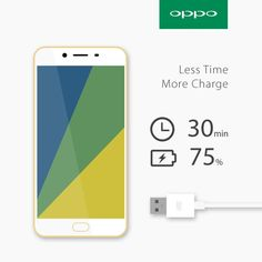 #OPPO #mobile #charge #time #gold #vooc #quick #phone #design #layout #clean #r9s #product #australia #emchengillustration