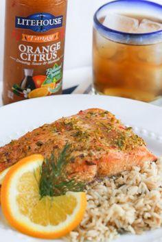 Tangy Orange Citrus Salmon | foodnfocus.com