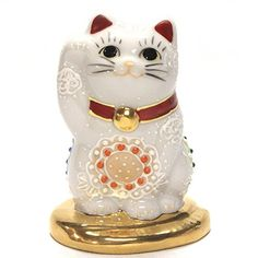 Japanese Maneki Neko Right hand Lucky cat Kutani ceramic Kutani http://www.amazon.com/dp/B002JYHZ3U/ref=cm_sw_r_pi_dp_FeQ1ub01QNZ3B