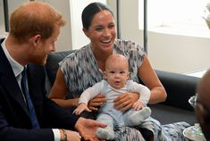 Prince Harry and Meghan Markle bring signature Sussex PDA to South Africa where they introduced baby Archie to Archbishop Desmond Tutu Desmond Tutu, Prince Harry Et Meghan, Meghan Markle Prince Harry, Harry And Meghan, Princess Meghan, Prince Charles, Prince Andrew, South Africa Tours, Visit South Africa