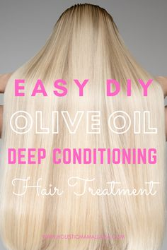 Natural Hair Regimen, Natural Hair Growth, Natural Hair Styles, Olive Oil Hair Treatment, Deep Conditioning Treatment, Black Hair Care, Deep Conditioner, Healthy Hair, Kid Hairstyles