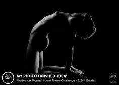 My photo finished 300 out of 1344 in the Models on Monochrome challenge!
