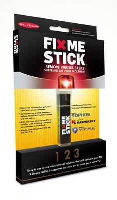 new product 8bd12 d0614 Fix Me Stick USB Drive Virus D ordinateur, Gadgets Électroniques, Clé Usb,
