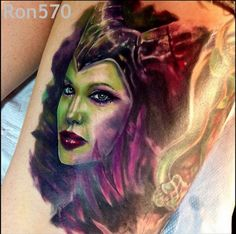 Beware Maleficent! Tattoo by Ron Russo