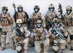 Soldiers in skull mask