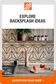 The Home Depot can help you find the perfect backsplash for your kitchen. Explore trending ideas, browse a wide selection of designs and get the guidance you need to keep your kitchen backsplash project on track. Tap to explore backsplashes at The Home Depot Kitchen Paint, Kitchen Redo, Home Decor Kitchen, Kitchen Backsplash, New Kitchen, Home Kitchens, Kitchen Remodel, Kitchen Design, Home Upgrades