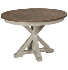 two-tone dining table features a crisp white base topped with a lightly distressed tabletop in a natural finish. Rectangle Dining Table, Oval Table, Riverside Furniture, 5 Piece Dining Set, Modern Coastal, Wood Surface, Wood Table, Side Chairs, Sweet Home
