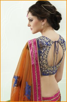 Best Saree Blouse Back Neck Designs 2016 #Saree #Blouse #Designer #BlouseBackNeckDesigns #SilkSarees #NeckDesigns