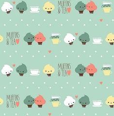 Fundo Cupcakes ?? Tea / Imagens Fofas para Tumblr, We Heart it, etc