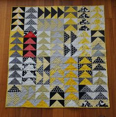 Flying Geese Baby Quilt | Patch Andi