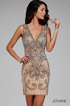 Beaded Sleeveless Dress 28061